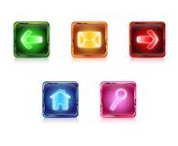 Botones del Web del color fijados Fotografía de archivo libre de regalías