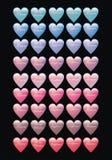 Botones del Web del corazón Fotos de archivo