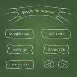 botones del web del Escuela-estilo Imagen de archivo