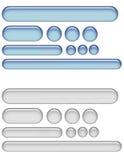 Botones del Web del gel ilustración del vector