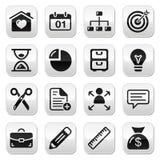 Botones del Web del Internet fijados Fotografía de archivo libre de regalías