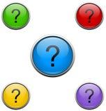 Botones del Web del signo de interrogación Foto de archivo libre de regalías
