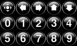 Botones del Web fijados Imagen de archivo
