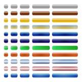 Botones del Web fijados Imagen de archivo libre de regalías