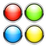 Botones del web fijados Imagenes de archivo