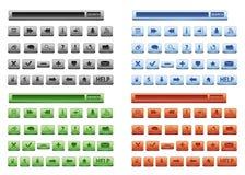 Botones del Web fijados Fotos de archivo