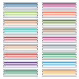 Botones del Web fijados en colores en colores pastel. Stock de ilustración