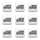 Botones del web, iconos de la entrega Imagenes de archivo