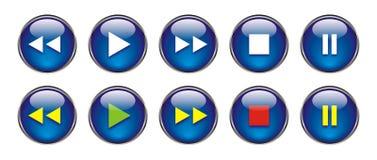 Botones del Web para DVD/VCR/CD Imágenes de archivo libres de regalías