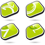 Botones del Web para las direcciones Imágenes de archivo libres de regalías