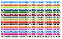 Botones del Web site Fotografía de archivo libre de regalías