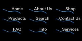 Botones del Web site Imagenes de archivo