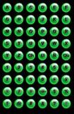 Botones del Web site stock de ilustración