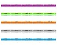Botones del Web site Imagen de archivo libre de regalías
