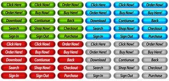 Botones del Web site Fotos de archivo