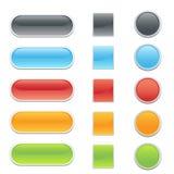 Botones del Web site o del Internet Foto de archivo libre de regalías