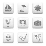 Botones del web - vacaciones Foto de archivo libre de regalías