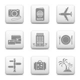 Botones del web - viaje Imagen de archivo