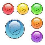 Botones delanteros fijados Imagenes de archivo