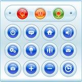 Botones e iconos brillantes Foto de archivo