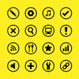 Botones e iconos grandes para cualquier uso, vector EPS10 del sitio web Foto de archivo libre de regalías