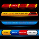 Botones Editable del vector del Web site Imagenes de archivo