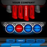 Botones Editable del vector del Web site Fotos de archivo
