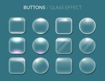 Botones Efecto de cristal libre illustration