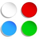 Botones en blanco stock de ilustración