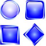 Botones en blanco Imágenes de archivo libres de regalías