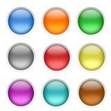 Botones en blanco Fotografía de archivo