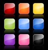 Botones en blanco brillantes en variaciones del color libre illustration