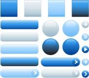 Botones en blanco del Web