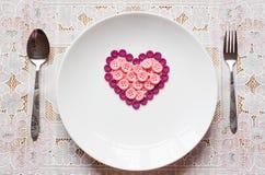 Botones en la forma del corazón Foto de archivo libre de regalías