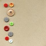 Botones en tela Foto de archivo