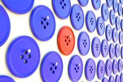 Botones en un concepto único del clavel Fotografía de archivo libre de regalías