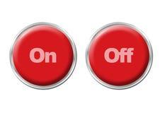 Botones encendido apagado Fotografía de archivo