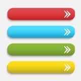 Botones enmarañados realistas del web del color del vector con Imágenes de archivo libres de regalías