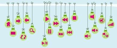 Botones festivos del Web site Fotos de archivo