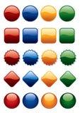 Botones fijados Fotografía de archivo libre de regalías