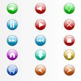 Botones fijados fotografía de archivo