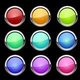 Botones fijados Vector Fotografía de archivo libre de regalías