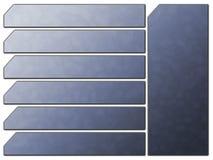 Botones futuristas azules de la piedra de la navegación del Web site Fotografía de archivo