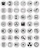 Botones grises claros de la oficina Imágenes de archivo libres de regalías