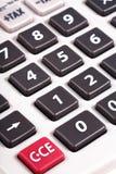 Botones grises de la calculadora Imágenes de archivo libres de regalías