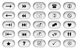 Botones grises del Web Foto de archivo