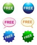 Botones libres stock de ilustración