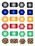 Botones libres de los colores de la paginación stock de ilustración