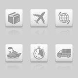 Botones logísticos del web Imagen de archivo libre de regalías