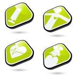 Botones médicos del icono Fotos de archivo